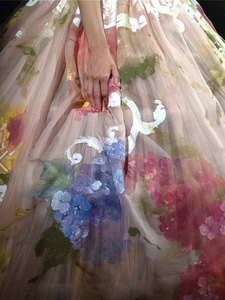 Dolce & Gabbana, first couture show, July 2012, hand-painted gown
