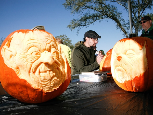 Cypress, Bridgeland, pumpkins, Halloween, Howl-O-Ween, carving, October 2012