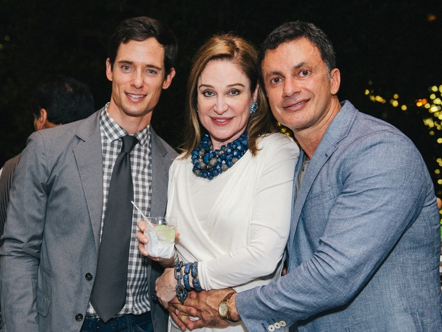 15 Henry Richardson, from left, Becca Cason Thrash and Monsour Taghdisi at Ceron 50th birthday party August 2014
