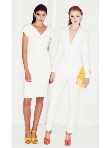 Escada spring 2015 and resort September 2014 Look 9 Spring Summer 2015 Danjanie Dress Look 10 Spring Summer 2015 Berihan Jacket, Spring Summer 2015 Tina Pant