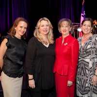 Jennifer O'Donnell, from left, Cheryl Strayed, Dorothy Ables and Christina O'Shell at Bo's Place luncheon February 2014