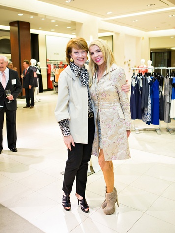 April Lykos, left, and Marie Taylor Bosarge at the Houston Symphony Retrospective Exhibit event March 2014