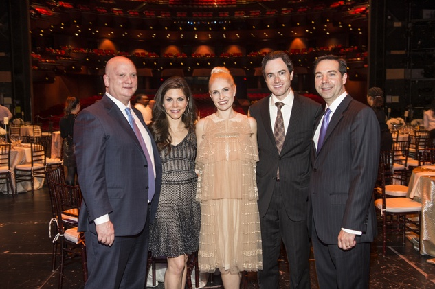 John and Monica Blaisdell, from left, Isabel and Danny David and Jim Nelson at the Houston Ballet Jubilee of Dance Onstage Dinner December 2014