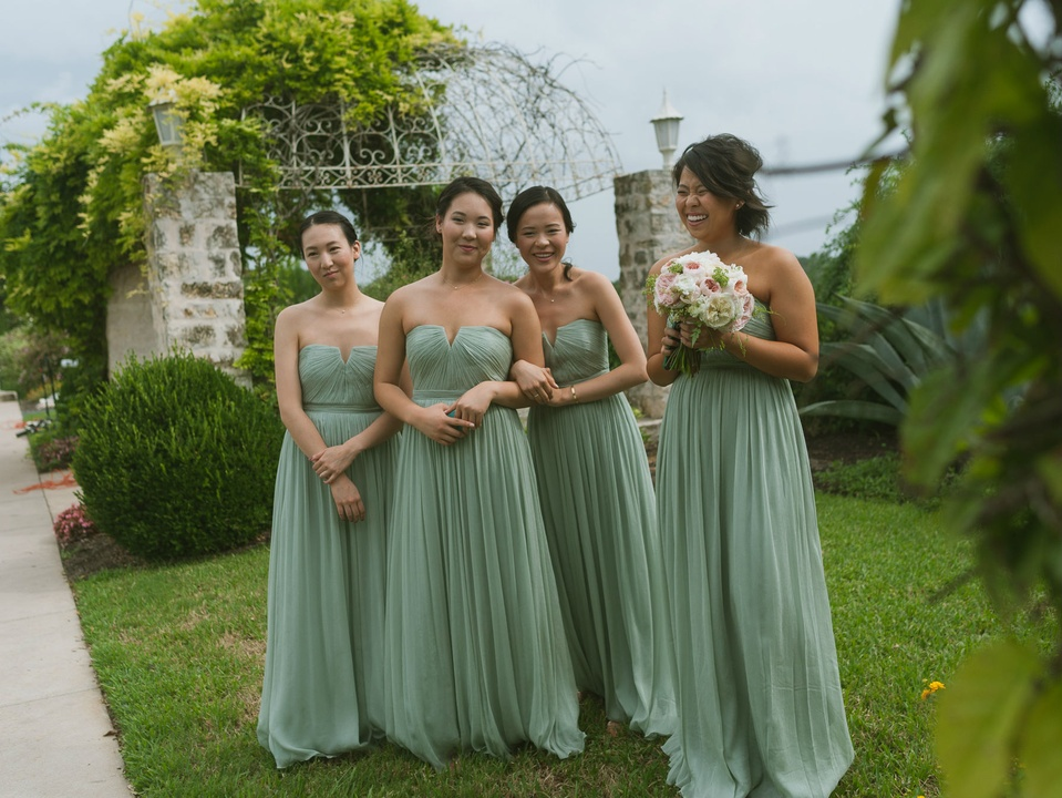 Pauline and Dayle Chang bridesmaids