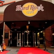 Hard Rock Cafe Houston entrance with red carpet