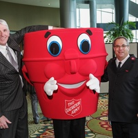 Jeff Early, from left, Capt. Kettle and Chris Flannagan at the Salvation Army annual luncheon November 2014