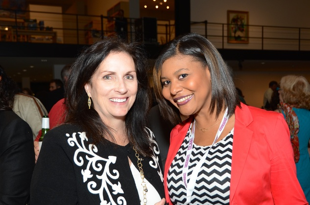 Julie Berry, left, and Angi Watkins at the Houston Cinema Arts Festival opening party November 2014