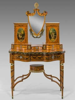 Theta Charity Antiques Show, mid-19th century dressing table, from William Cook Antiques, November 2012