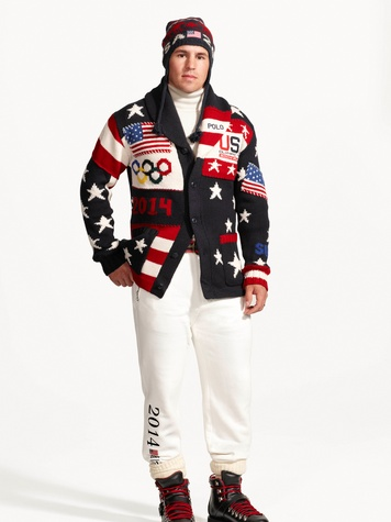 Ralph Lauren Olympic opening ceremonies uniforms January 2014 Zach Parise