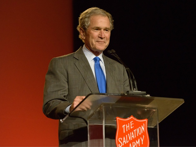 salvation army guest presdient gearge w bush, doing the most good luncheon