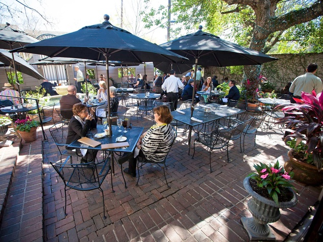 Backstreeet Cafe Patio With People Day