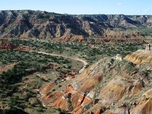 Palo Duro Canyon, terrain, mountains