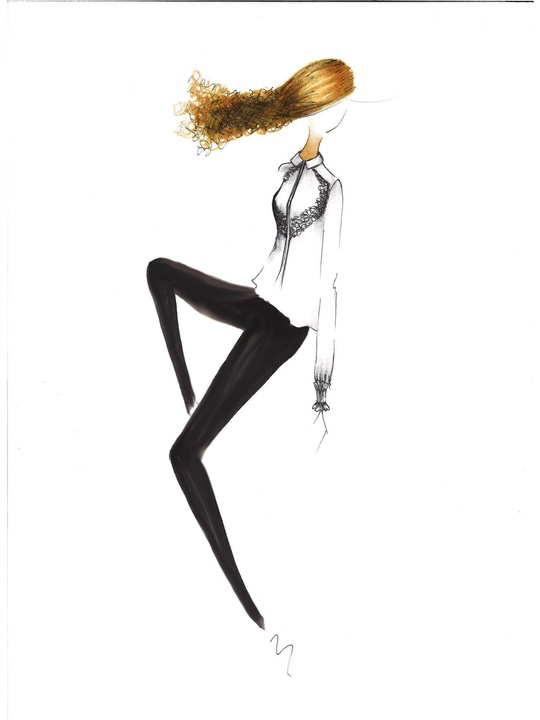 Fashion Week spring 2015 sketch Sept. 2014 Jay Godfrey