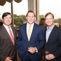 11 Nick Diaz, from left, Bas Solleveld and Adam Ross at the Houston Heart Ball Kickoff at River Oaks Country Club October 2014