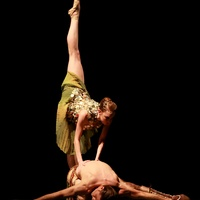 Natalie Varnum and Ian Casady in the Houston Ballet production of Zodiac