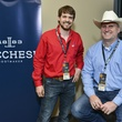 Tyler Young, Ron Cluff at Lucchese party at Houston rodeo