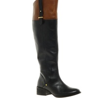 asos River Island Leather Contrast Knee High Boots