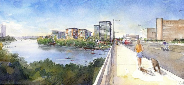 South Shore of Lady Bird Lake rendering