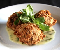 Blue corn hushpuppies at Lonesome Dove Western Bistro in Fort Worth