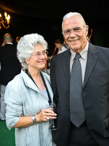 Betty Moody and Bill Steffy at the Bill Viola Aurora Picture Show Award party October 2013