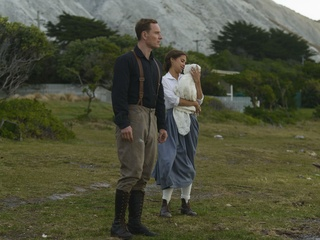 Michael Fassbender and Alicia Vikander in The Light Between Oceans