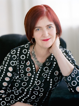 Tarra Gaines, Emma Donoghue, author, November 2012