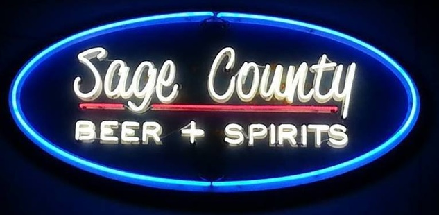Sage County Midtown neon sign