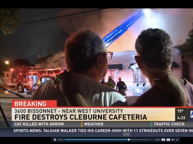 Cleburne Cafeteria Fire