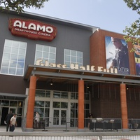 Alamo Drafthouse Lakeline exterior ribbon cutting Glass Half Full