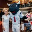 19 Margaret Alkek Williams with Toro at the Houston Texans Owner's Suite party at NRG Stadium September 2014
