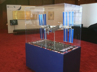 News_Houston Symphony_Orbit_lobby exhibits_replica_International Space Station