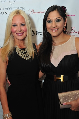 Jennifer Garret, left, and Dr. Sippi Khurang at the Holly Rose Ribbon Foundation Day dinner September 2014