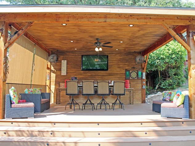 Houzz Backyards Awesome Backyard Deck Ideas On A Budget Design Top Graphic Plans Designs With