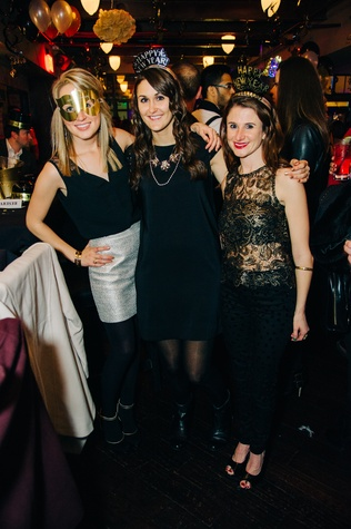 Kelley Stock, from left, Juli Hover and Ashley Sprawls at New Year's Eve at Local Pour January 2015
