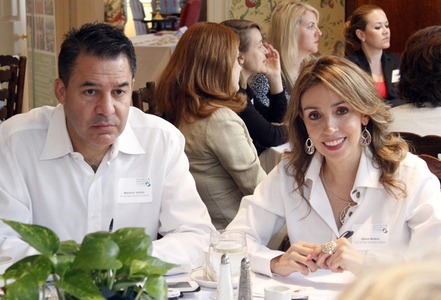 Mauricio Vallejo and Liliana Molina at Center for Houston's Future event August 2014