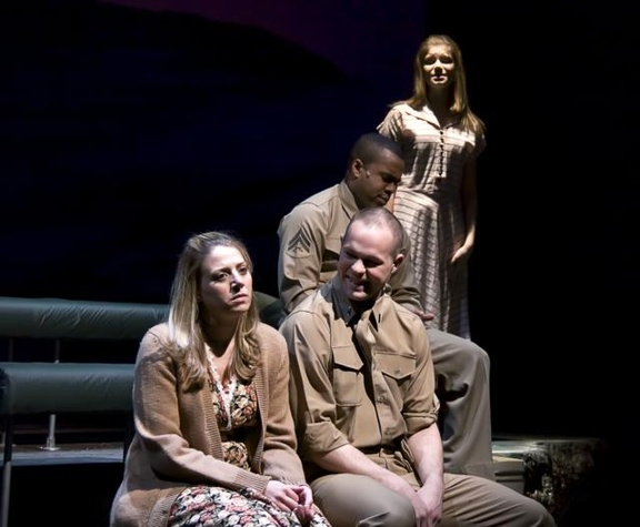 "The cast of ""Violet"" at WaterTower Theatre"