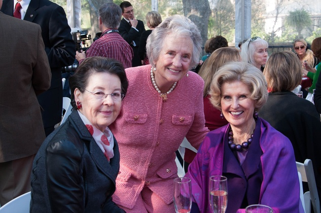 7 Nancy Powell Moore, from left, Diane Webb and Terry Lin G. Neale at the ROCO Yuletide Concert at Bayou Bend December 2014