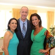 3 Anna Maria Salas, from left, Jim Kelly and Julie Oliver at the The Center Luncheon February 2015