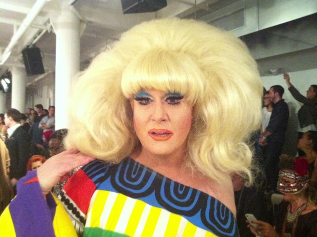 Lady Bunny at The Blondes runway show September 2013
