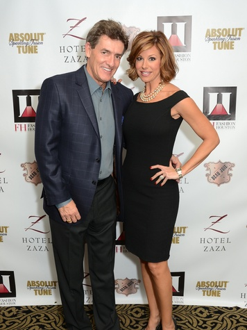 Nick Florescu and Dominique Sachse at the Fashion Houston Launch Party October 2013