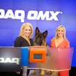 Kristi Schiller, Jamie Colby and canine Johnny Cash at NASDAQ Times Square