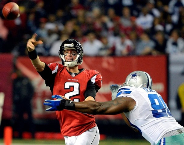Matt Ryan was too much for the Cowboys, who fall to 3-5 at the halfway point of the season