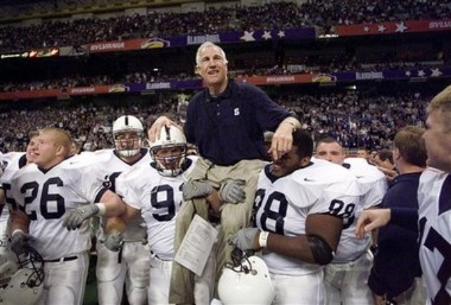 Jerry Sandusky carried off