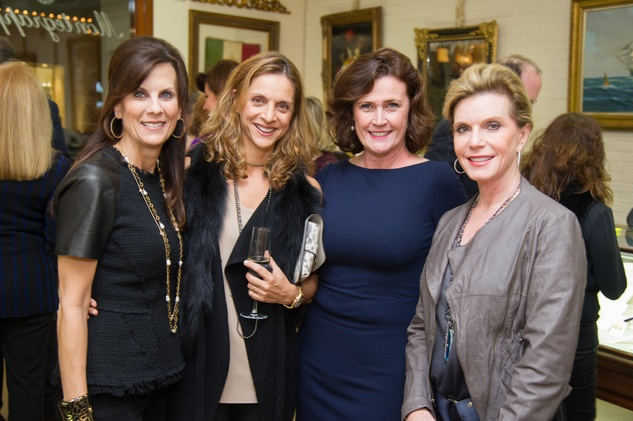 15 Francy Fondren, from left, Nini Bekhradi, Leslie Bowlin and Trish Millard at the Mrs. B Jewelry Launch at Valobra November 2013
