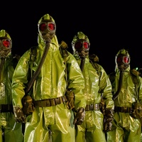 men in hazmat suits