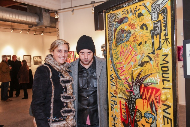 7 Eglantine Clocher and Skunkdog at the Art on the Avenue benefit November 2014