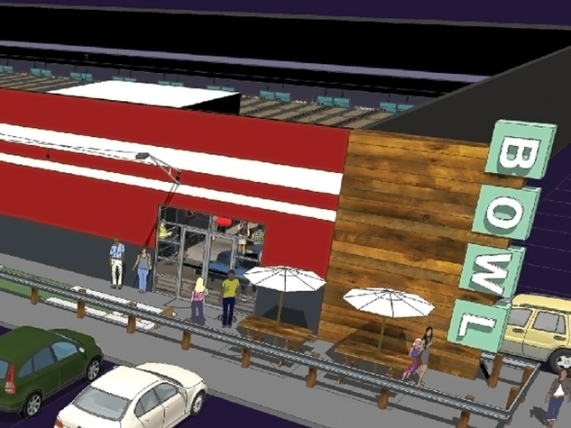 5 Bowlero bowling alley The Woodlands rendering May 2014