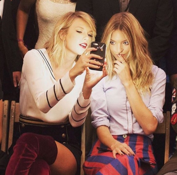 Taylor Swift at Tommy Hilfiger runway show