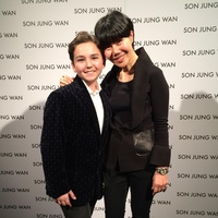 Sam Horowitz and Son Jung Wan backstage at New York Fashion Week