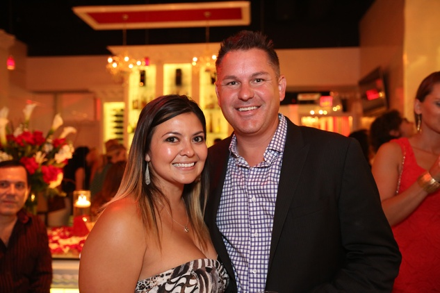 2812 Erica Gonzalez and Heath Irlbeck at the Crimson grand opening party July 2014